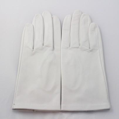 Gant Blanc Cuir Agneau Femme.