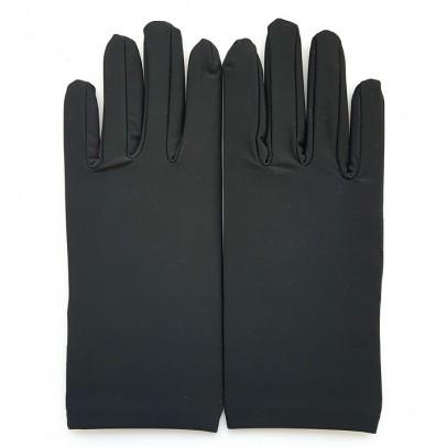 Gant Noir Satin Taille Unique.
