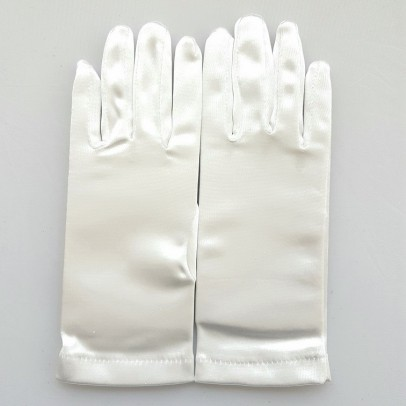 Gant Blanc Satin Taille Unique.