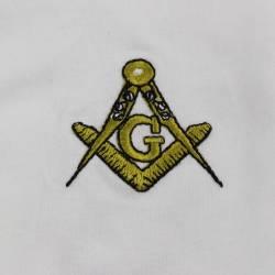 Gant Blanc Coton Franc Maçon.