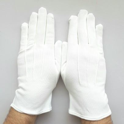 Gants Coton Blancs 3 Nervures Mixte