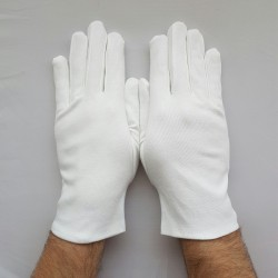 Gant Blanc en Coton pour toute les mains, pour une tenue parfaite.