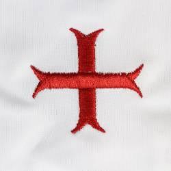 Gant blanc nylon croix templiére.