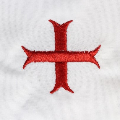Gant Blanc Coton Croix Templiére, Croix de St andrée, Croix Pattée.