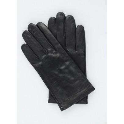 Gant noir Cuir Agneau Homme.
