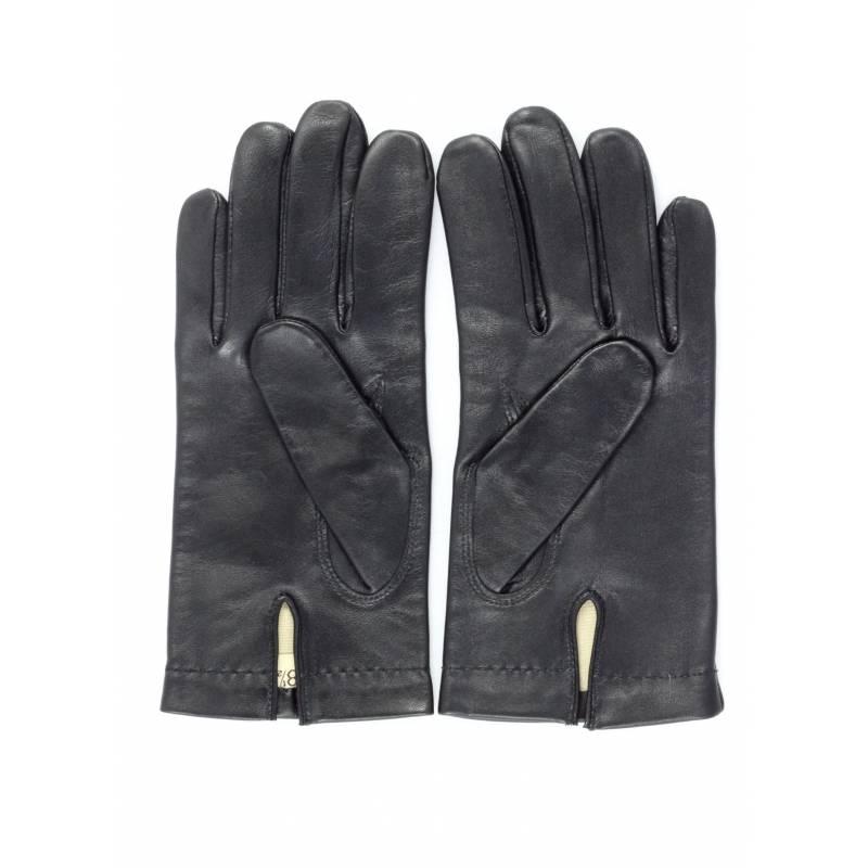 gants en cuir d agneau noir pour homme. Black Bedroom Furniture Sets. Home Design Ideas