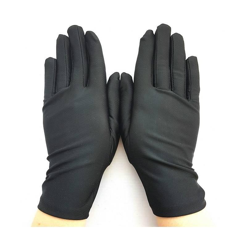 gants en satin noir taille unique. Black Bedroom Furniture Sets. Home Design Ideas