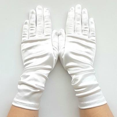 Gant Blanc Satin Taille Unique Mi long.