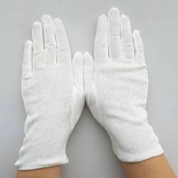 Gants Blancs en Coton Mixtes, petits prix