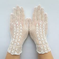 Gant en dentelle crochet coton.