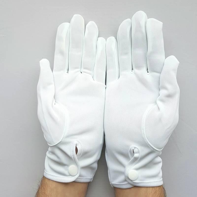 gants en nylon blanc officier pour femme et homme. Black Bedroom Furniture Sets. Home Design Ideas