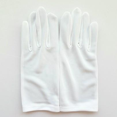 Gant Blanc en Nylon pour toute les mains, pour une tenue parfaite.