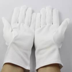 10 Pair of white gloves + 1 Pair Available