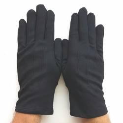 Gants noirs, en coton pour femme et homme.